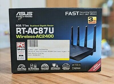 Asus RT-AC2400 RT-AC87U 802.11 Dual Band Gigabit Router *NEW NEVER USED*