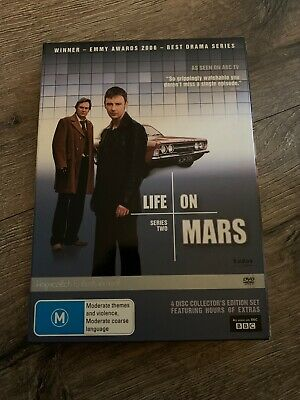 Life on mars,bbc complete series two,4discs,dvd,Superb! free post!! :)