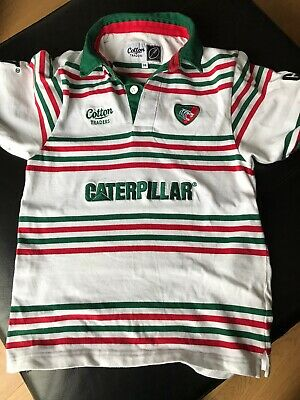 Boys Leicester Tigers Rugby Shirt Size Small LB age 10/11 Years