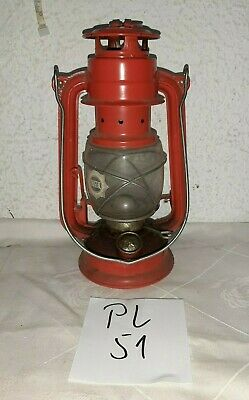 Alte DDR Petroleum Lampe-Windlicht BAT No 158 CHRISTAL-GLAS (PL51)