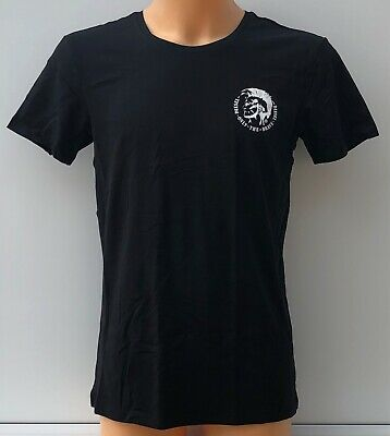 DIESEL Black Round Neck Only The Brave Logo T-Shirt Top Tee Size 2XL BNWOT