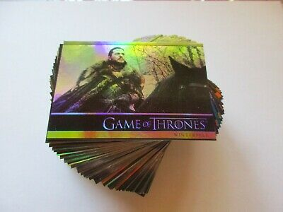 2020 Game of Thrones Season 8 Complete Holo-Foil Parallel Base Set Series Eight