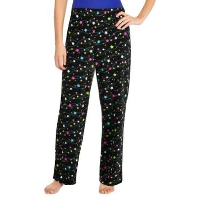 Secret Treasures Womens Pajama Pants Size XL Fleece Sleep Lounge Star Black NWT