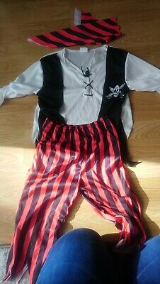 Kids Pirate Boy Jim Costume Boys Caribbean Book Week Day Fancy Dress Outfit