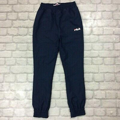 Fila Junior 12-13 Years Dragon Woven Track Pants Navy Blue Joggers Teen Youth