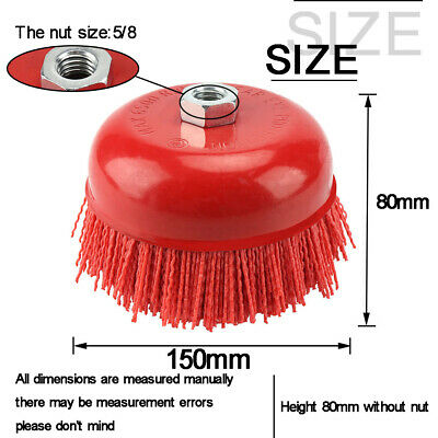 150mmCup Nylon Abrasive Brush Wheel Pile Polymer-abrasive For Angle Grinder Tool