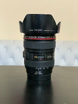 Canon L-series 24-105mm F/4 L IS USM Lens Perfect Condition