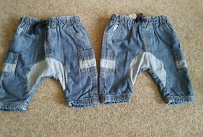 2 Pairs Identical Next Baby Boys Jeans 0-3 Months