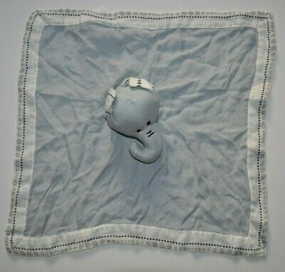 Aden + Anais Elephant Gray Lovey Blankie Security Blanket