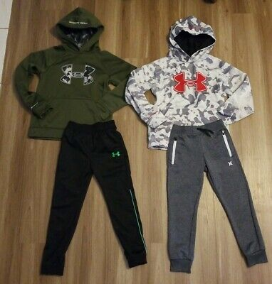 Lot Under Armour Youth Boys Storm Camo Hoodie Nike Hurley Joggers Small 6 7