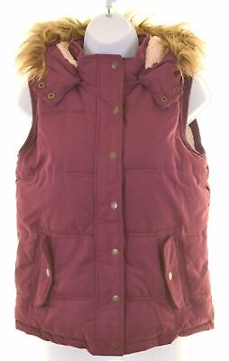 FAT FACE Girls Padded Gilet 12-13 Years Purple Polyester  KW29