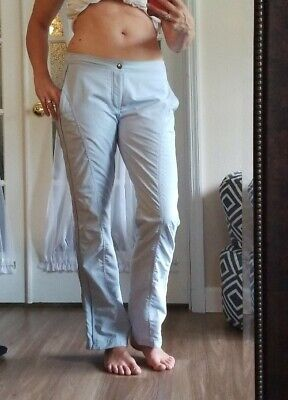"""Nike Womens Sphere Dry Golf Active Pants Baby Blue Stretch Med 32"""" inseam tall"""