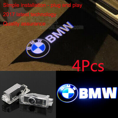 4Pcs Door LED Courtesy Welcome laser Projector Logo Ghost Shadow Lights For BMW