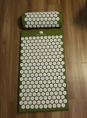 Original Bed of Nails Green Mat Pillow Set Accupressure Pain Relief $120 retail