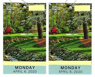 Two (2) 2020 Masters Practice Round Tickets – Monday, April 6, 2020