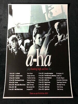 A-HA 12x18 TOUR POSTER 2020 HUNT HIGH AND LOW LIVE BAND CONCERT TAKE ON ME 1
