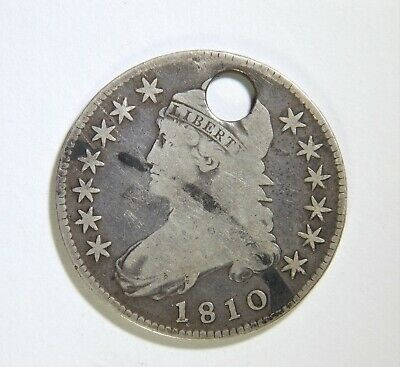1810 Capped Bust Half Dollar Holed