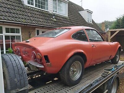 opel gt 1900 auto lhd  for restoration 1973 complete