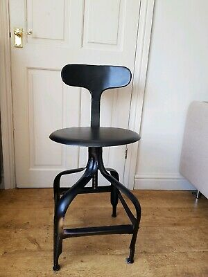 Vintage Industrial Machinists stool chair Black Metal 4 available