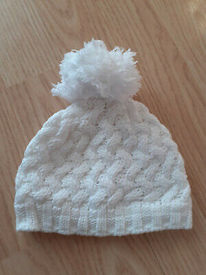Next Woolly Baby Bobble Hat White 0-3 Months