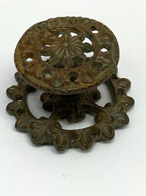 Antique Cast Brass Victorian French Rococo Chippendale Drawer Pull Knob Dresser