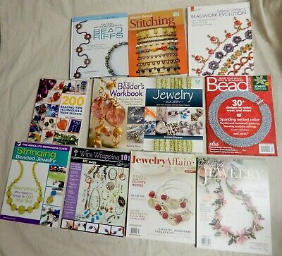 Lot of 11 Beading Books Jewelry Making Guides Patterns Ideas MSRP $200+