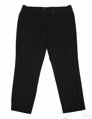 Emaline Womens Pants Ink Black Size 16 Dress Mid-Rise Solid Stretch $59 934
