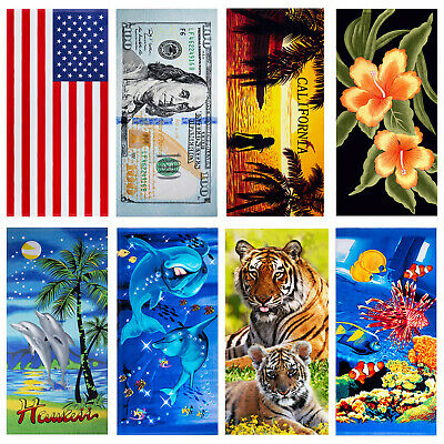 100% Cotton Beach Towels Shower Towels Quick Drying Ultra Soft