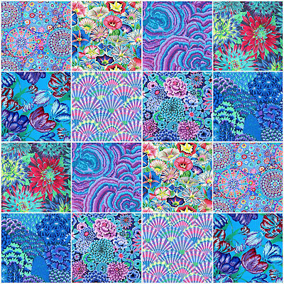 """16 x KAFFE FASSETT COLLECTIVE- 5"""" inch charm squares ~ Quilting Cotton Fabric"""
