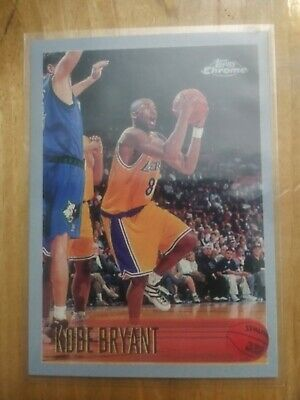 1996 Topps Chrome Kobe Bryant #138 Rc Rookie Card Mint Or Better