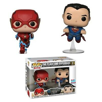 Justice League Movie The Flash and Superman Race NYCC Exclusive Pop! Vinyl