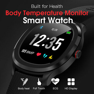 IP68 Smart Watch Body Temperature Monitor Bracelet PPG+ECG Heart Rate Wristband