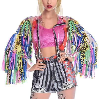 Adult's Official Birds Of Prey Film Harley Quinn Tassel Jacket Fancy Dress DC