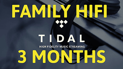TIDAL hi-fi 3 Months FAMILYPlan +5 users | GUARANTED FAST DELIVERY | MUSIC