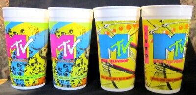 MTV Video Music Awards 1990 Taco Bell  Lot of 4 Plastic Collectors Cups