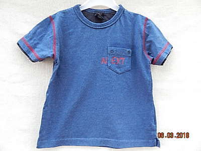 Next Boys Great Blue With Red Trim Top Sz 2 Years