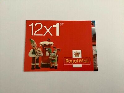 WALLACE & GROMIT 12x 1st CLASS CHRISTMAS STAMP BOOKLET