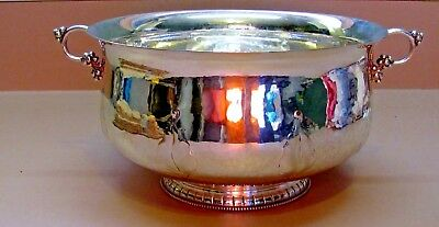 "Norway 830S Silver Bowl By Marus Hammer  Bergen  8 1/2"" X 5"" Tall  Beautiful"