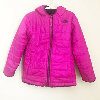 The North Face Toddler Girls Size 5 Reversible Mossbud Swirl Jacket Pink Puffer