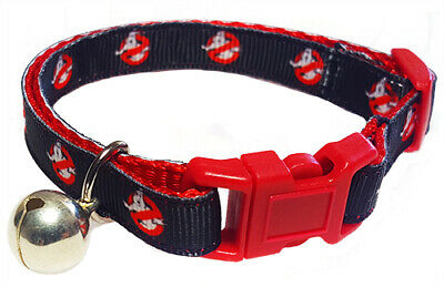 Spoilt Rotten Pets Quality Ghostbusters Cat Collar. Safety Buckle & Bell