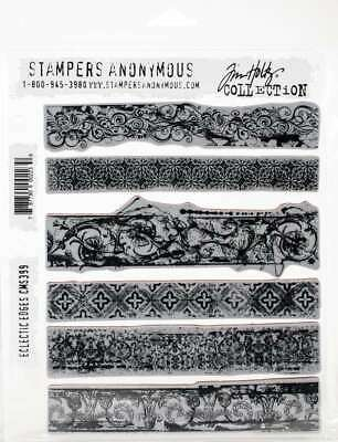 "Tim Holtz Cling Stamps 7/""x8.5/""-grudge Alphabet"