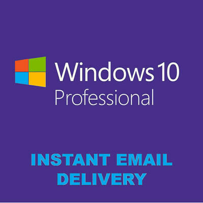 Microsoft Windows 10 Pro Professional 32/ 64bit Genuine License Key Product Cod'
