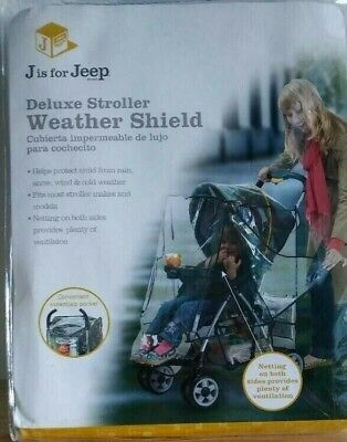 Jeep Deluxe Baby Stroller Universal Weather Shield Pocket Ventilation Rain Cover