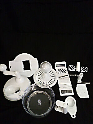 Kitchen Hand Crank Food Processor, Chopper, Slicer, Grater, Shredder, Juicer
