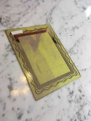 Art Deco French Mirrored Picture Frame