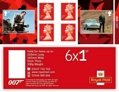 GB 2020 James Bond 007 Booklet Adhesive Stamps Mint