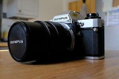 Olympus OM10 35mm SLR Film Camera Body with 135mm lens in excellent condition!