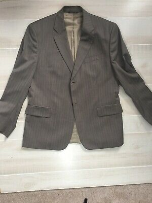 Banana Republic Tan With Silver Stripes Suit - Size 42S
