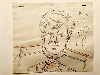 LEGEND OF THE GALACTIC HEROES ANIME Animation Production Cel Sketch Set of 2
