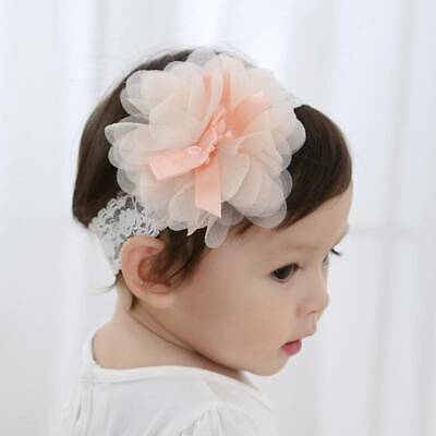 1pc Baby Girls Toddler Lace Flower Hair Band Headwear Kid Headband Accessories~